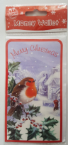 Merry Christmas Robin Money Wallet